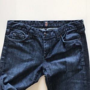 ANLO Jeans straight leg Sz 31 zipper leg dark blue